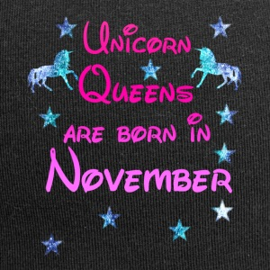 Unicorn Queens born November - Jersey Beanie