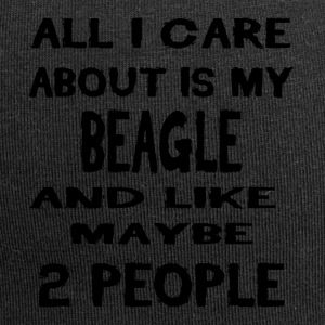 All i care about is my BEAGLE - Jersey-Beanie