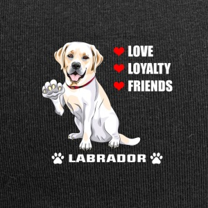 Dog T Shirt | Labrador - Love - Loyalty - Friend - Jersey Beanie