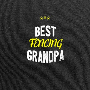 Distressed - BEST FENCING GRANDPA - Jersey Beanie
