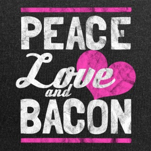Peace, love and bacon gift - Jersey Beanie