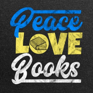 Peace, Love and Books - Gift för boklärd - Jerseymössa