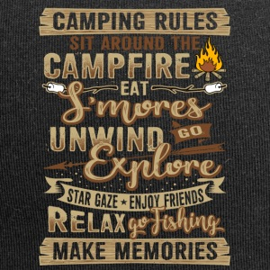Camping tents fire rules gift - Jersey Beanie