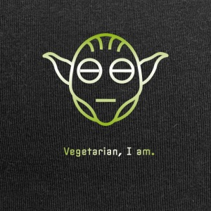 yoda vegetarische Vegg groene Icon Head Star Line Fun - Jersey-Beanie