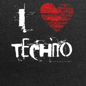 I Love Techno Goa rave Hardtek difficile - Beanie in jersey