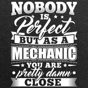 Mechanic Mechanician T-Shirt Nobody Perfect - Jersey Beanie