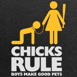 Women Power: Chicks Rule.Boys Make Good Pets - Bonnet en jersey