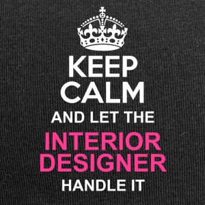 keep calm interior designer - Jersey Beanie