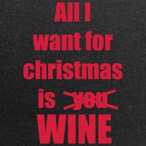 Christmas song saying Wine - Jersey Beanie
