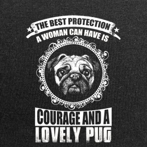 The Best Protection, a lovely Pug - Jersey Beanie