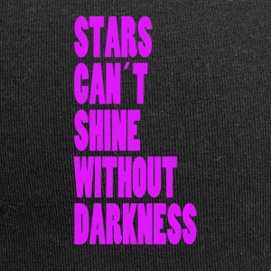 STARS CAN'T SHINE WITHOUT DARKNESS - NEONLILA - Jersey Beanie