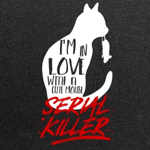 Cat mouse serial killer - funny cat gift - Jersey Beanie