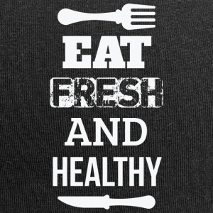 Esse frisch und gesund - eat fresh and healthy - Jersey-Beanie