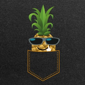 ANANAS FUCK YOU cool pineapple guy sunglasses - Jersey Beanie