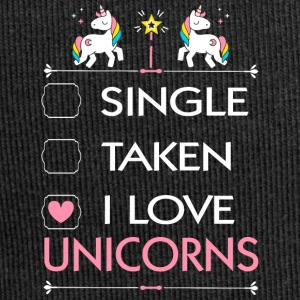SINGLE TAKEN I LOVE UNICORNS - Jersey-Beanie
