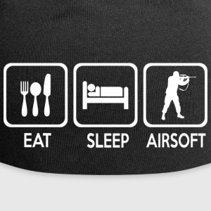 eat sleep airsoft - Gorro holgado de tela de jersey