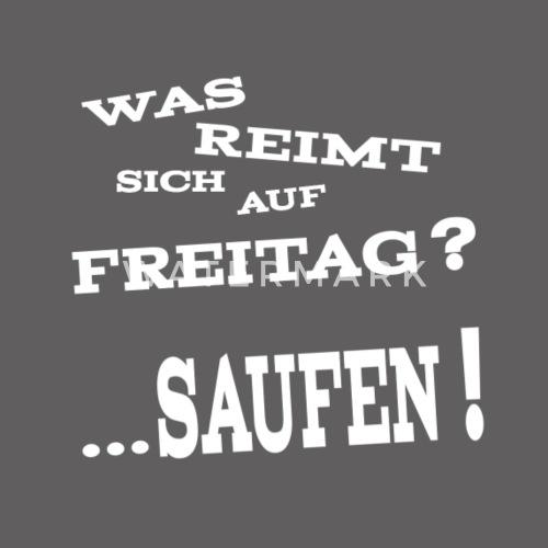 Freitag Saufen Lustiger Spruch Beanie Spreadshirt