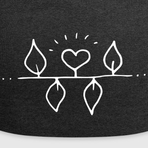 Illustration: Heart with four leaves - Jersey Beanie