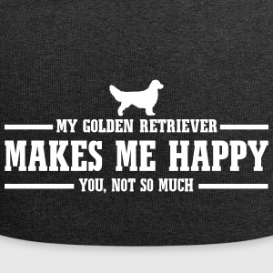 Golden retriever me rend heureux - Bonnet en jersey