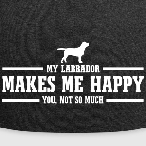 LABRADOR makes me happy - Jersey Beanie