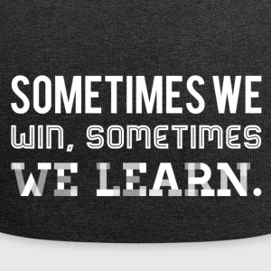 we learn - weiss - Jersey-Beanie