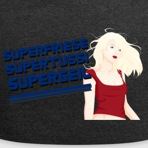 Superfriese - Supertussi - Supergeil - Jersey-Beanie