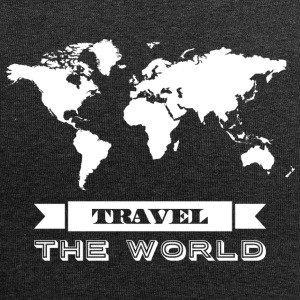 Travel the world - weiss - Jersey-Beanie