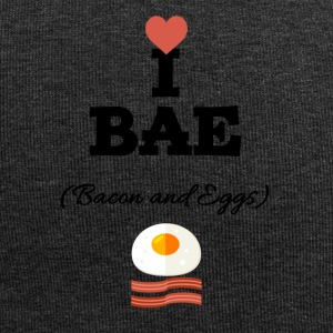 I love bacon and eggs - Jersey Beanie