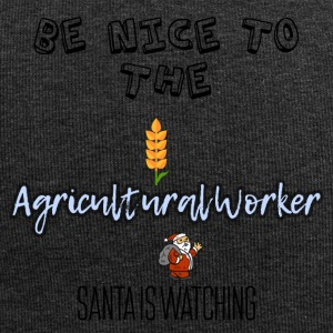 Be nice to the Agricultural worker Santa watch it - Jersey-Beanie