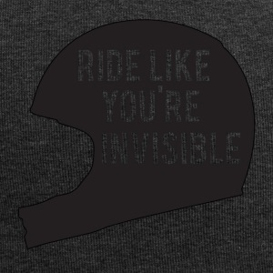 Biker / Motorcycle Ride like you're invisible - Jersey Beanie