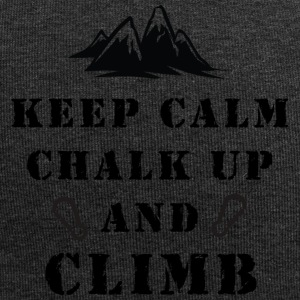 Rock Climbing Keep Calm Chalk Up And Climb - Jersey Beanie