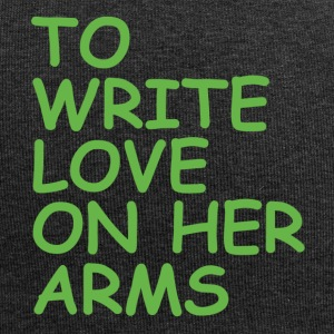 to write love on her arms green - Jersey-Beanie