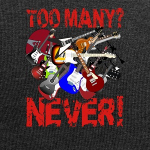 Too Many Guitars? Never! - Jersey Beanie