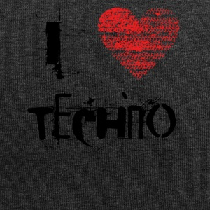 I Love Techno Goa rave Hardtek nero - Beanie in jersey