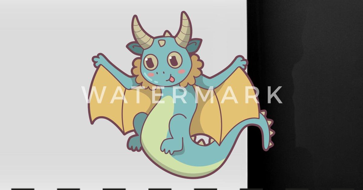 Dragon Kawaii Cadeau Mignon Fantaisie Enfants Mug Panoramique Spreadshirt