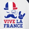 France fashionable cycling championship football tour flag yellow jersey moustache - Men's Baseball T-Shirt