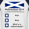 Funny Scottish Referendum on Independence - Men's Baseball T-Shirt