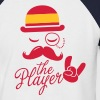 Spain retro gentleman sports player rock football bachelor olympics poker championship Moustache Flag European - Men's Baseball T-Shirt