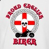 Proud English Biker - Men's Baseball T-Shirt