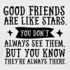 Good Friends Are Like Stars... - T-shirt baseball manches courtes Homme