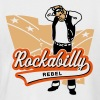Rockabilly Rebel - Männer Baseball-T-Shirt