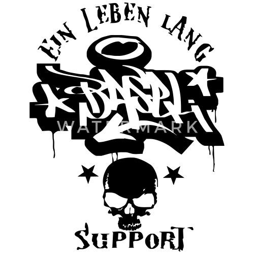 Basel Ultras Graffiti Tattoo Fan Style T Shirt Baseball Manches Courtes Homme Blanc Noir