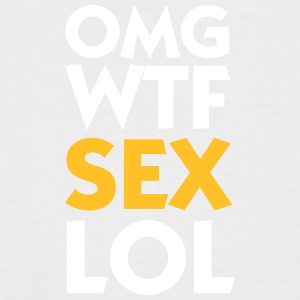 OMG WTF SEX LOL - Men's Baseball T-Shirt