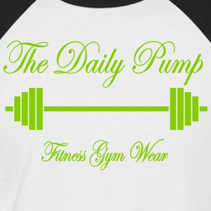 The Daily Pump Barbell - Kortærmet herre-baseballshirt