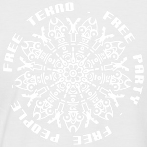 Free tekno free party free people - Men's Baseball T-Shirt