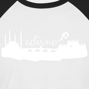 Edirne silhouette - Men's Baseball T-Shirt