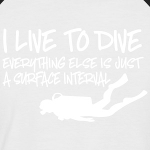 dive - Men's Baseball T-Shirt