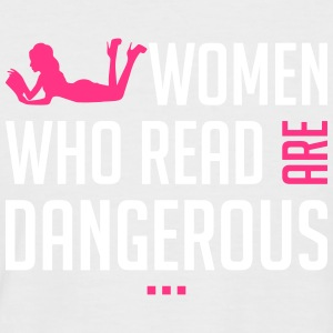 Women who read are dangerous - Männer Baseball-T-Shirt