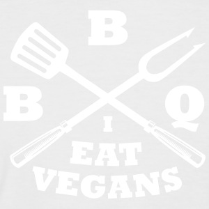 Barbecue in the eat vegans - Men's Baseball T-Shirt