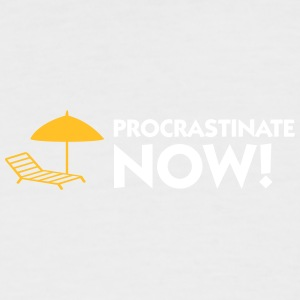Procrastination Now! - T-shirt baseball manches courtes Homme